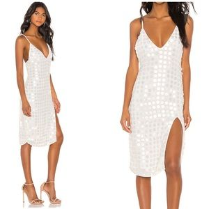 NWT X by NBD Winny Midi Dress ivory small